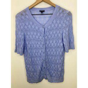 Talbots Cardigans Short Sleeve Sweater Blue Size M